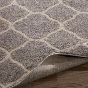 Urban 4122 Moroccan Trellis Light Grey Area Rug - 5X7 - Bellaria Furniture HomeStore