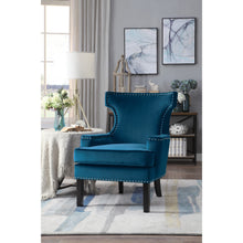 Load image into Gallery viewer, [MONTHLY SPECIAL] Lapis Blue Velvet Accent Chair | 1190 - Bellaria Furniture HomeStore