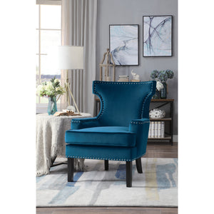 [MONTHLY SPECIAL] Lapis Blue Velvet Accent Chair | 1190 - Bellaria Furniture HomeStore