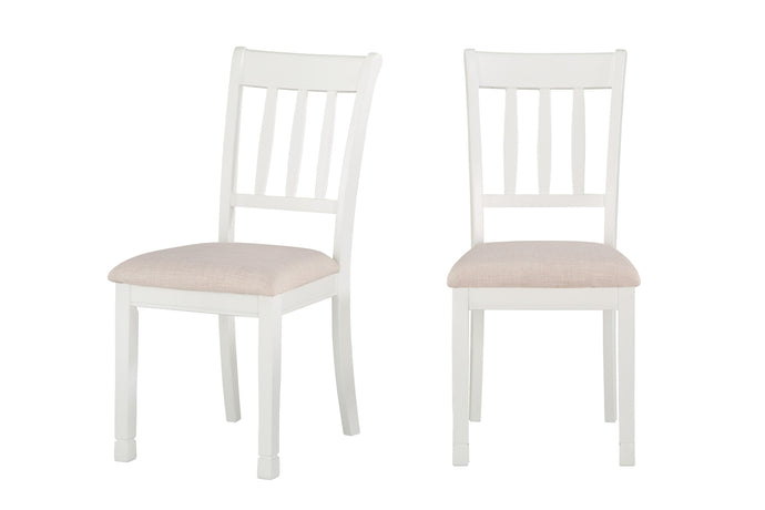 Nadalia White Side Chair, Set of 2 | 5648