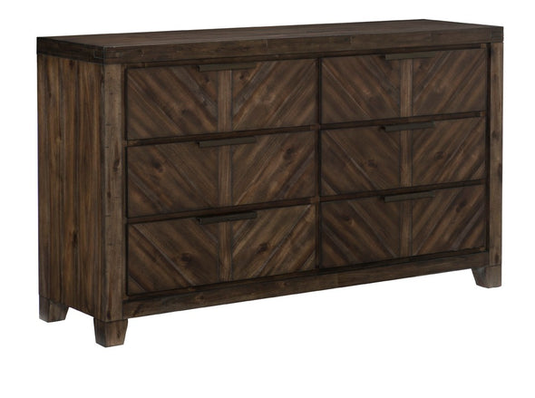 Parnell Rustic Cherry Dresser - Luna Furniture