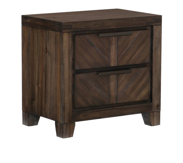 Parnell Rustic Cherry Nightstand - Luna Furniture