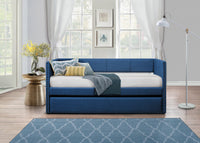 Therese Blue Daybed with Trundle - Luna Furniture