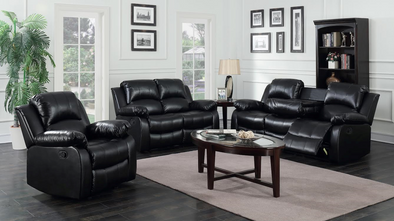 [SPECIAL] Astros Black 3-Piece Reclining Living Room Set