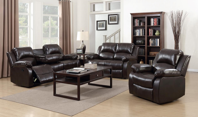 [SPECIAL] Astros Brown 3-Piece Reclining Living Room Set