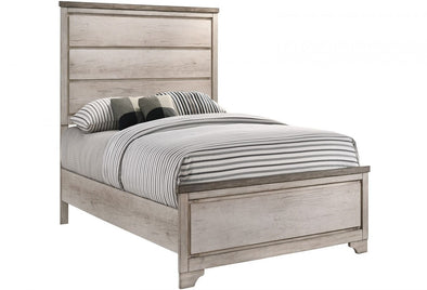 Patterson Driftwood Gray Panel Twin Bed