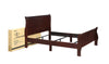 Louis Philip Cherry King Sleigh Bed - Luna Furniture