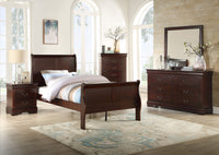 Louis Philip Cherry Youth Sleigh Bedroom Set *** - Luna Furniture