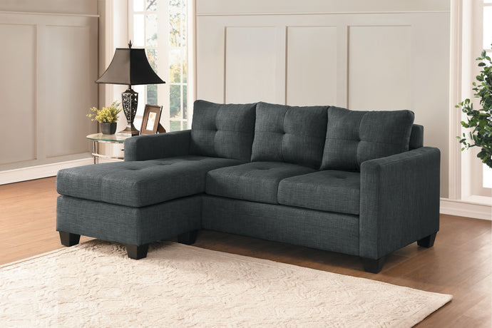 Phelps Dark Gray Reversible Sofa Chaise | 9789