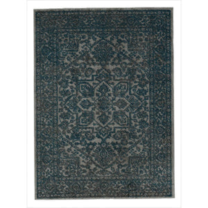 Urban 4266 Oriental Medallion Blue Grey Area Rug - 5X7 - Bellaria Furniture HomeStore