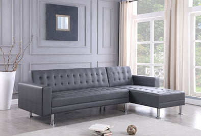 Bobby Gray Tufted Reversible Sectional