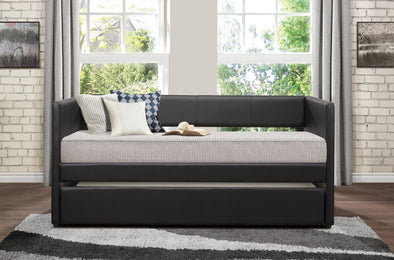 Adra Black Twin Daybed with Trundle | 4949
