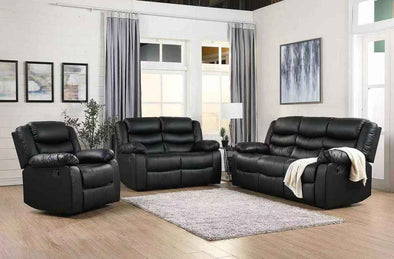 [SPECIAL] Dynamo Black 3-Piece Reclining Living Room Set