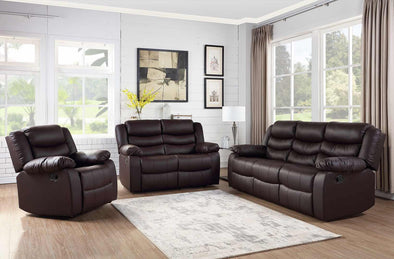 [SPECIAL] Dynamo Brown 3-Piece Reclining Living Room Set - Luna Furniture
