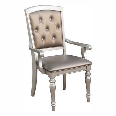 Orsina Silver Arm Chair, Set of 2 - Luna Furniture