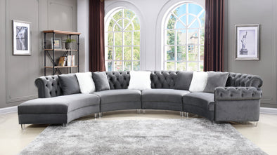 Fendi Gray Velvet Sectional