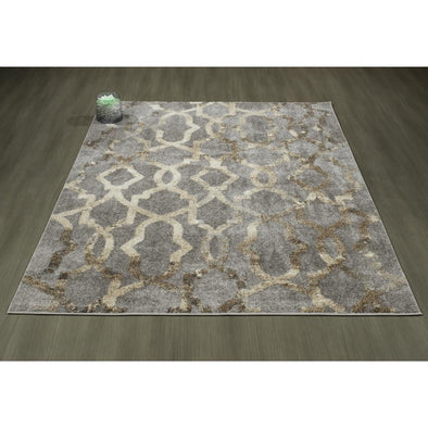 Urban Imperial Trellis Faded Grey Area Rug - 5X7
