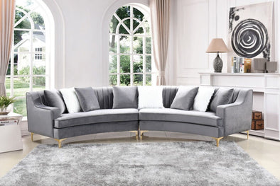 Gucci Gray Velvet Sectional