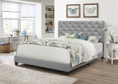 [SPECIAL] Lana Gray Diamond Tufted Twin Bed