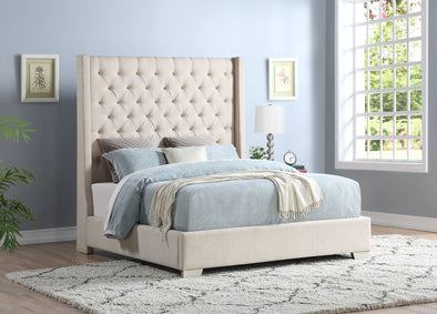 [SPECIAL] Linen Sand 6 FT King Bed - Luna Furniture