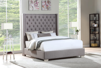 Gray 6 FT King Bed | HH326