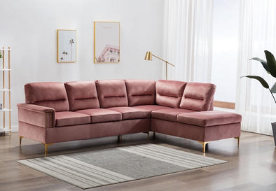 Vogue Pink Velvet Sectional