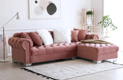 [SPECIAL] Royal Pink Velvet RAF Sectional