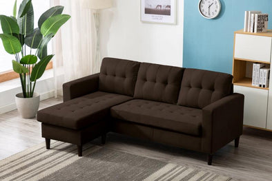 Kingdom Chocolate Reversible Sofa Chaise
