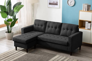 Kingdom Gray Reversible Sofa Chaise