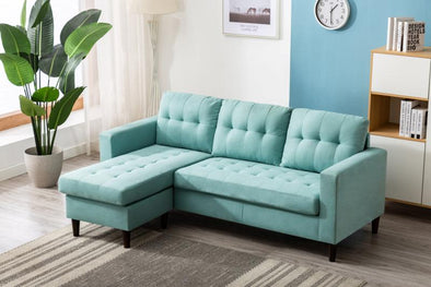 Kingdom Teal Reversible Sofa Chaise