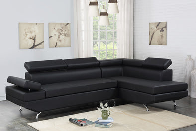 [HOT DEAL] Moderno Black Leather Sectional