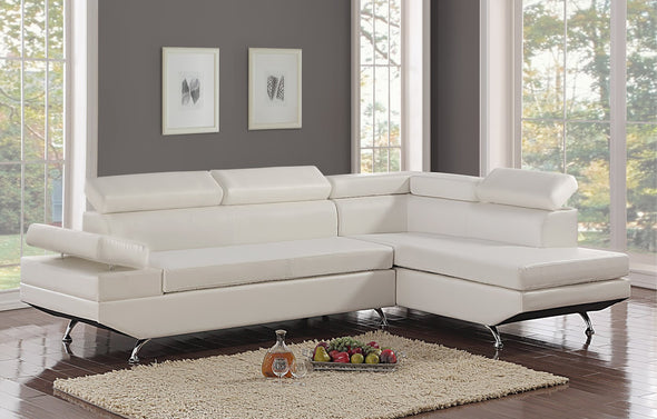 Moderno White RAF Sectional - Luna Furniture