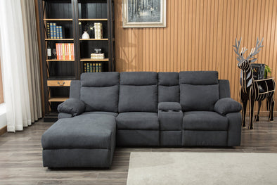 Olivia Gray Push-Back Reclining Sectional - Luna Furniture