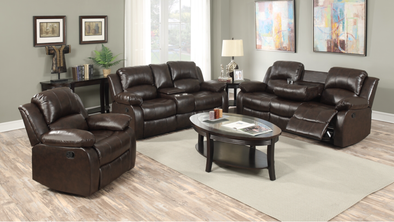 [SPECIAL] Galinda Brown Reclining Living Room Set | 10100