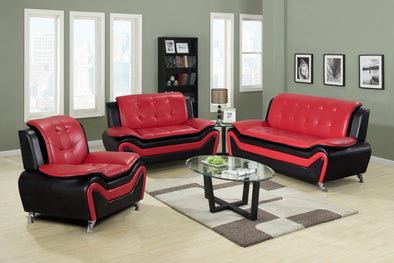 [SPECIAL] Tilda Red 3-Piece Living Room Set | 8162