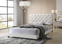 Lana White Diamond Tufted Queen Bed - Luna Furniture