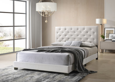[SPECIAL] Lana White Diamond Tufted Twin Bed