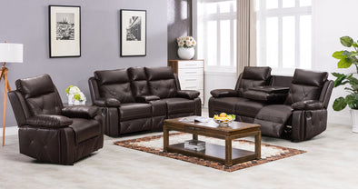 [SPECIAL] McKenzie Brown Reclining Living Room Set | 5018