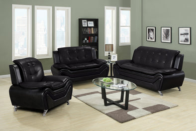 [SPECIAL] Tilda Black 3-Piece Living Room Set | 777