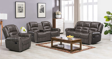[SPECIAL] Lexington Gray 3-Piece Reclining Living Room Set