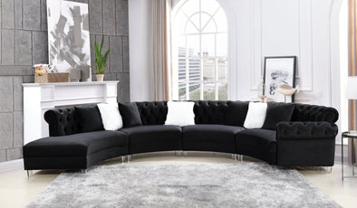 Fendi Black Velvet Sectional