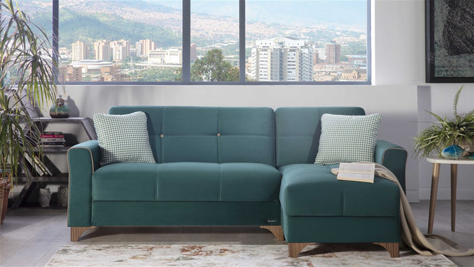 Tina Green Reversible Sofa Chaise by Bellona