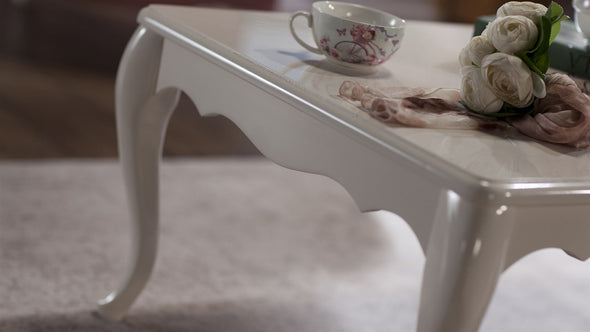 Valdes White Coffee Table by Bellona - Luna Furniture