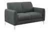 Venture Gray Loveseat - Luna Furniture