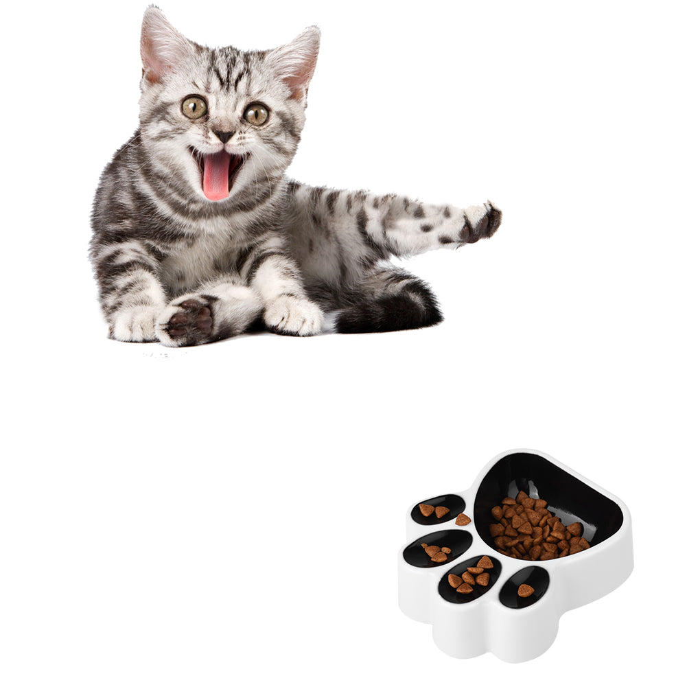 2PCS Intelligent Plastic Pet Bowl