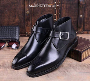 Luxury Italy Designer Ankle Boot Genuine Leather