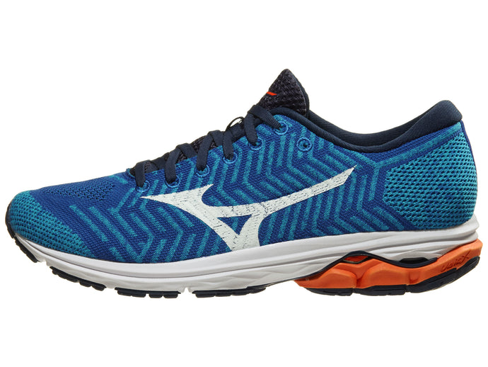 Mizuno WaveKnit R2 nam Nautical Blue/Red Orange | Giay Doc | Giày Độc