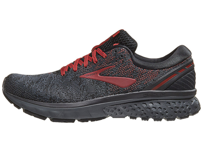 Brooks Ghost 11 Knit nam Black/White/Merlot | Giay Doc | Giày Độc