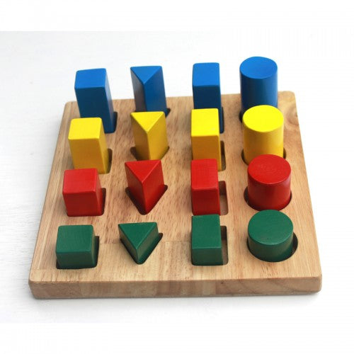 Young-engineer board Shape & Size Wood Board Puzzle