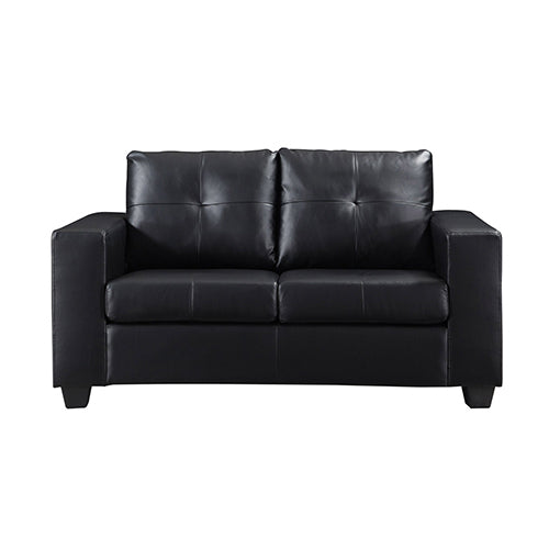 2 Seater Nikki Sofa Black High Quality Faux Leather Home Furniture